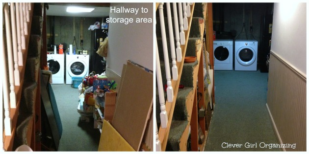 Before and After:  Basement Storage