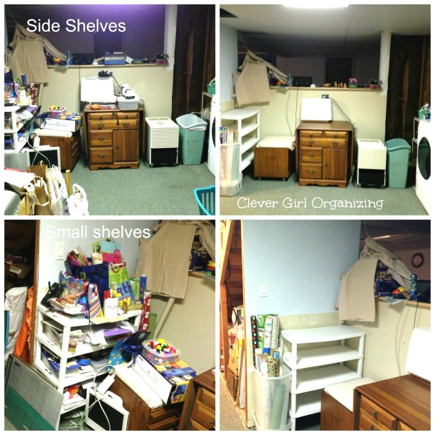 Side Shelves before and after