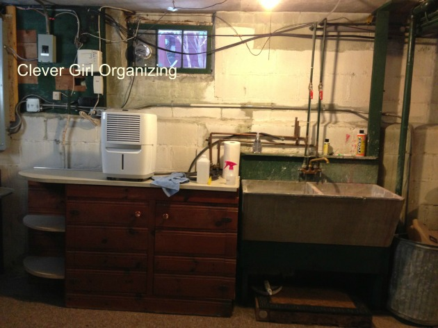 Before and After: Basement Sink and Storage Area